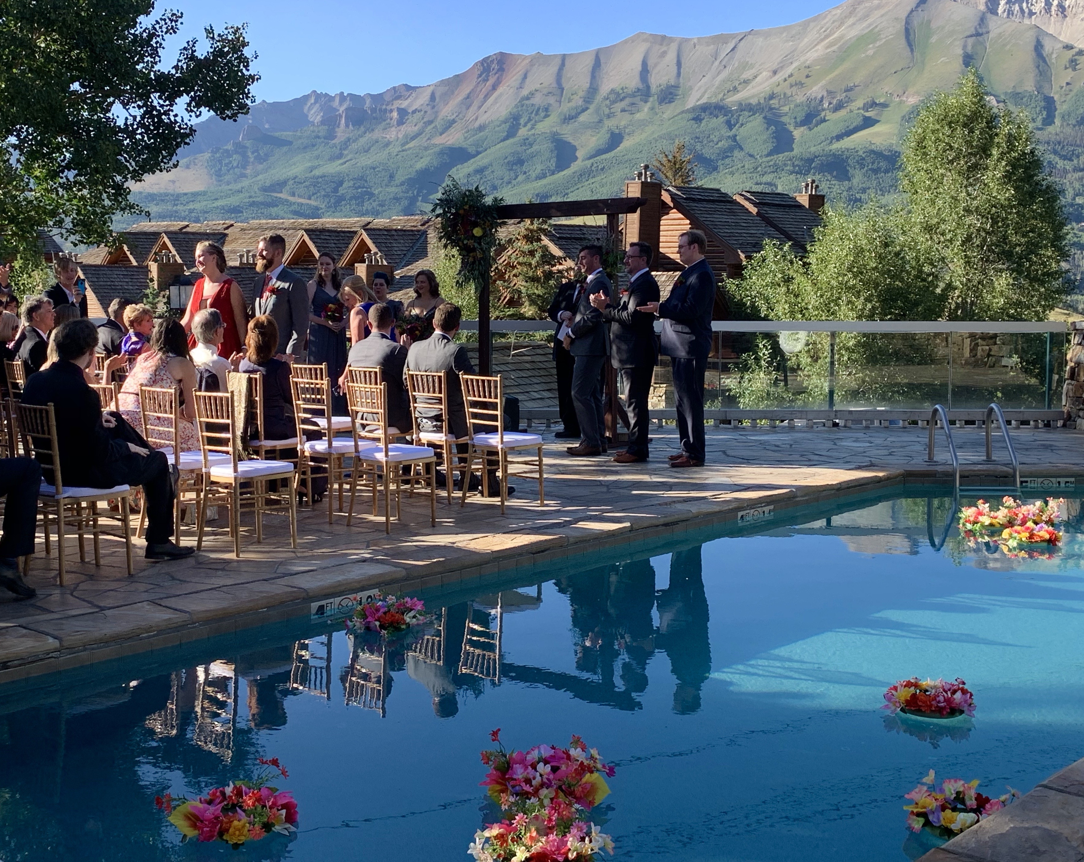 Wedding by the pool