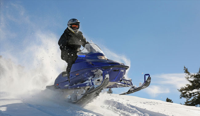 Snowmobiling at Telluride, Colorado